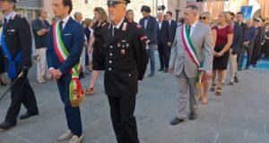 Pier Domenico Pierandrei (con la fascia di sindaco) alla festa di Camaiore
