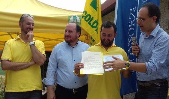 Francesco Fucili assieme al presidente nazionale di Coldiretti (a destra)