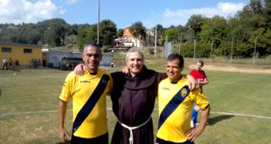 Sergio Sparvoli e Gilberto Cruciani assieme a Fra' Luciano