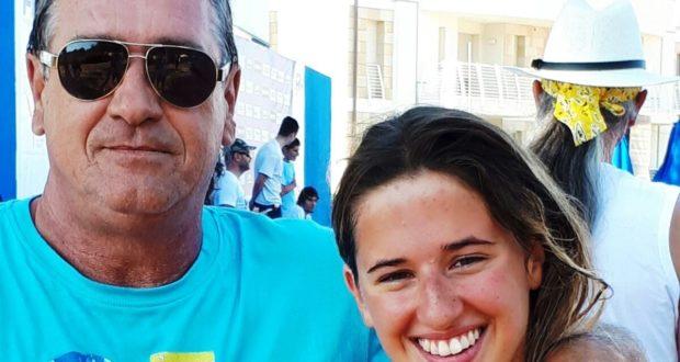 Lucia Cialoni con il padre Luciano