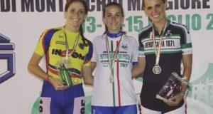 Benedetta Rossini a sinistra con la medaglia d'argento