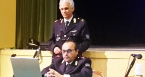 L'ispettore Daniele a San Severino con il collega Mario Perozzi