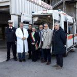 La presentazione della nuova ambulanza