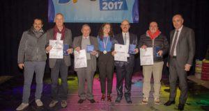 La premiazione a Macerata: Graziano Gattari è il terzo da destra
