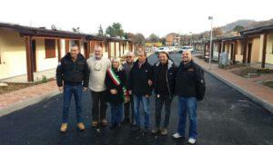 La delegazione giunta a San Severino per la consegna della donazione