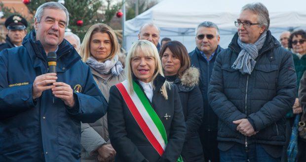 Il sindaco Rosa Piermattei con il presidente della Regione e il capo della Protezione civile nazionale
