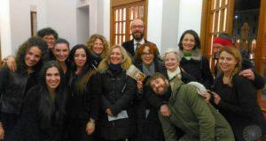 Angela Finocchiaro con il direttore artistico Francesco Rapaccioni e lo staff del Feronia