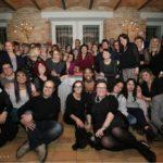 Paola Frittellini e i partecipanti alla cena solidale