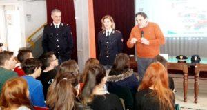Il Preside Luciani con gli ispettori della Polizia Ferroviaria