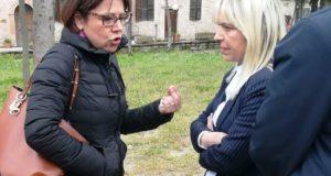 Il sindaco con la De Micheli a Pieve Torina