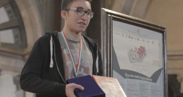 Riccardo Gianfelici alla premiazione di Firenze