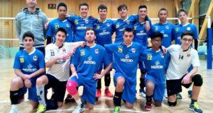 I ragazzi della Prima divisione con il coach Moretti