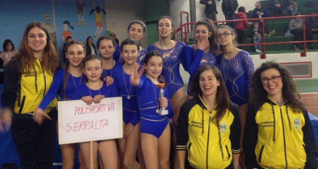 Atlete e istruttrici della Polisportiva Serralta