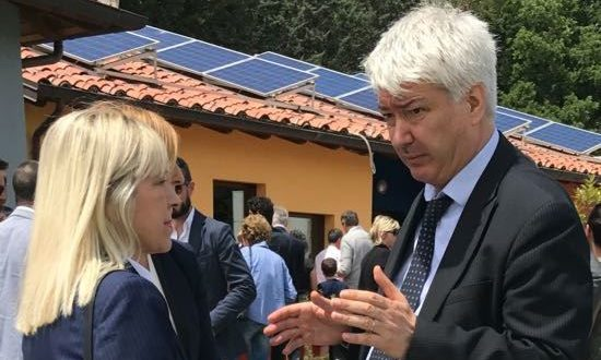 Il sindaco Piermattei con il direttore dell'Ufficio scolastico regionale, Felisetti