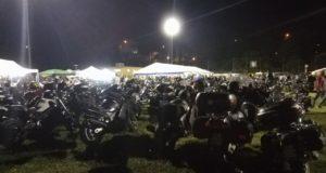Il raduno al campo sportivo di Serralta