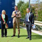 Il sindaco, il presidente Macrì e il consigliere comunale Pierandrei