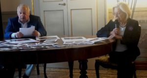 Claudio Brunacci assieme al vicesindaco Vanna Bianconi