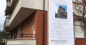 L'edificio interessato dal cantiere