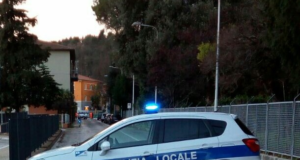 Polizia municipale in via San Sebastiano