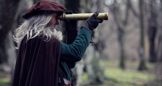 Un'immagine di Leonardo nel docu-film girato in parte nella faggeta di Canfaito
