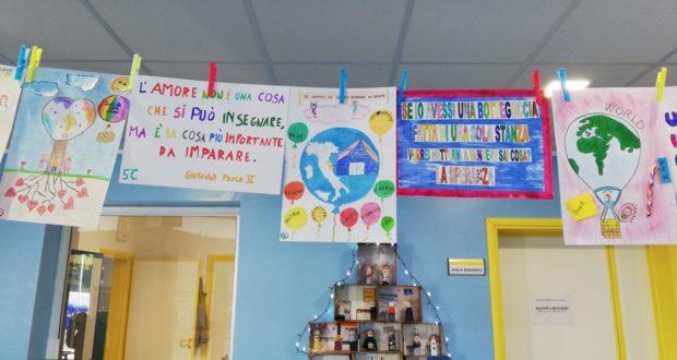 """Alcuni dei lavori fatti dai bambini per """"Aforismi di Umanità"""""""