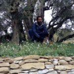 Federico Quaranta ai piedi dello storico ulivo
