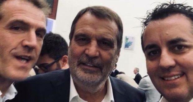 Marco Tardelli con il presidente Belardinelli e con Marco Moscatelli