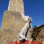 I lavori alla torre