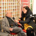 Vincenzo Lombardo intervistato, nell'occasione, da una tv locale