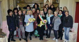 Il sindaco con le protagoniste dell'iniziativa