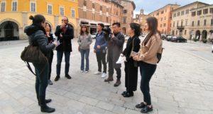 La delegazione in Piazza del Popolo