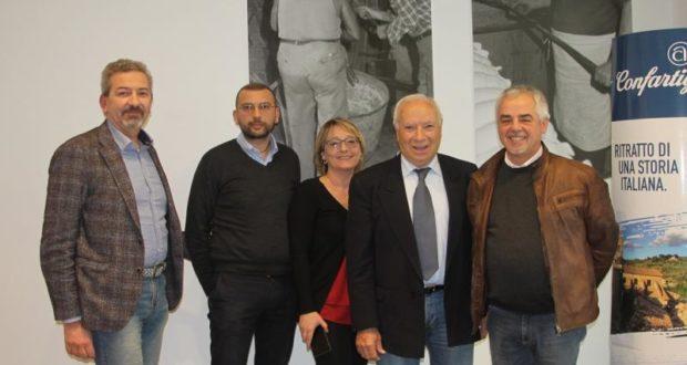 Il riconfermato presidente Renzo Leonori con i suoi più stretti collaboratori