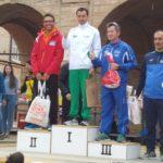 Spurio Giuseppetti sul secondo gradino del podio