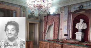 La sala consiliare di San Severino e nel riquadro Vanda Dignani