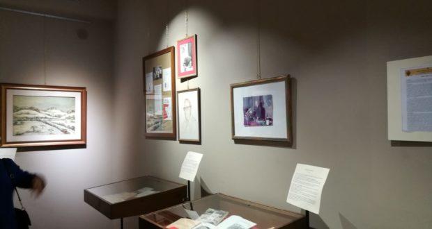 Un angolo della mostra in Pinacoteca