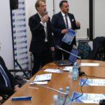 Il presidente Belardinelli con Marco Moscatelli, che ha coordinato la presentazione di Contram