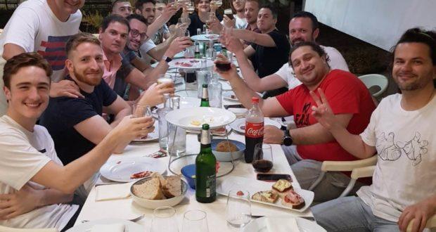 La cena dopo il successo di Fermo