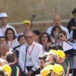 Una sezione del Coro che ha cantato alla messa del Papa