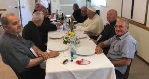 A tavola con il Pontefice