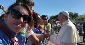 L'abbraccio con Papa Francesco