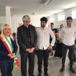 I fratelli Moriconi con il sindaco Piermattei e il cardinal Menichelli