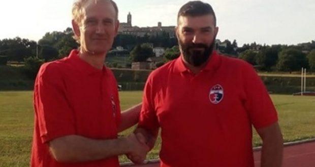 Samuele Bonifazi (a destra) allenerà il Montecassiano