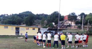 Il primo allenamento del Serralta nella sede storica della Polisportiva