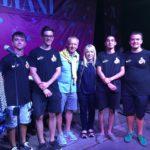 Gli organizzatori con il sindaco Rosa Piermattei e l'assessore Paolo Paoloni
