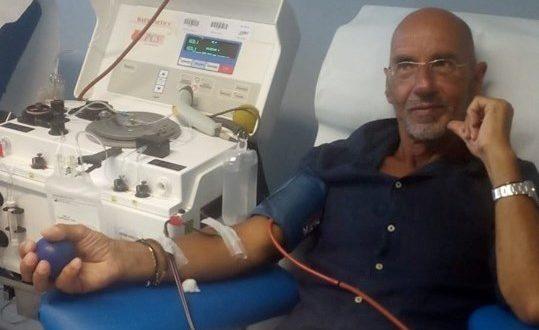 Alberto Giacomo Ranciaro dona il sangue per la centesima volta nella vita