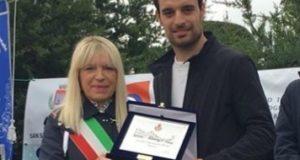 Il sindaco Rosa Piermattei e Giacomo Bonaventura