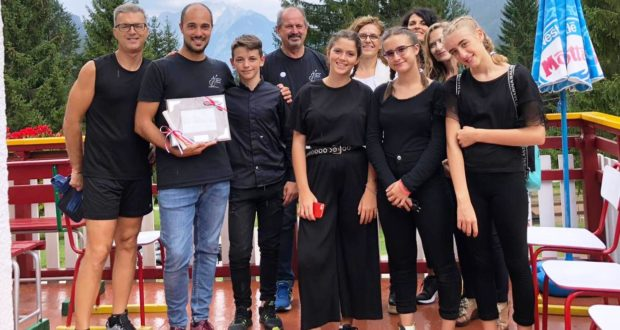 Un gruppetto di partecipanti allo stage ad Auronzo di Cadore
