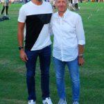 L'assessore Paoloni con Alessandro Paparoni, presente anche lui allo stadio con la sua famiglia