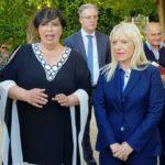Il sindaco Rosa Piermattei e il presidente del Tennis Club, Loretta Maglie