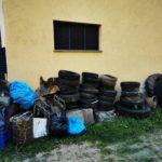 Collezione di vecchi pneumatici